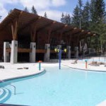 swimming pool at cultus lake cottages resort